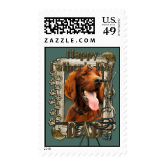 Fathers Day - Stone Paws - Irish Setter Stamps