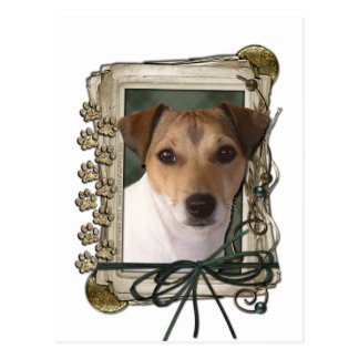 Fathers Day - Stone Paws - Jack Russell Postcard