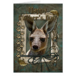 Fathers Day - Stone Paws - Kangaroo Cards