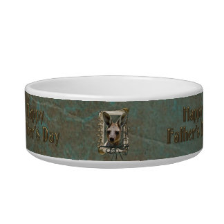 Fathers Day - Stone Paws - Kangaroo Cat Bowl
