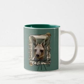 Fathers Day - Stone Paws - Kangaroo Two-Tone Coffee Mug
