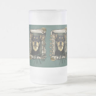 Fathers Day - Stone Paws - Kelpie - Jude Frosted Glass Beer Mug