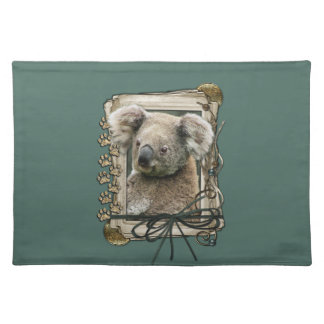 Fathers Day - Stone Paws - Koala Cloth Placemat