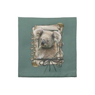 Fathers Day - Stone Paws - Koala Napkin