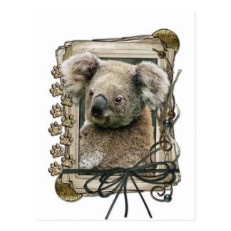 Fathers Day - Stone Paws - Koala Post Card