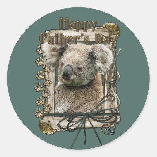 Fathers Day - Stone Paws - Koala Classic Round Sticker