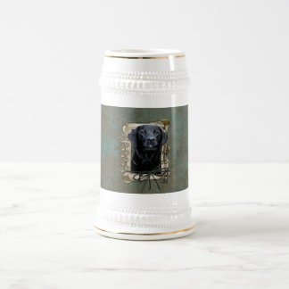 Fathers Day - Stone Paws - Labrador - Black Beer Stein