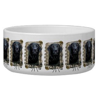 Fathers Day - Stone Paws - Labrador - Black Bowl