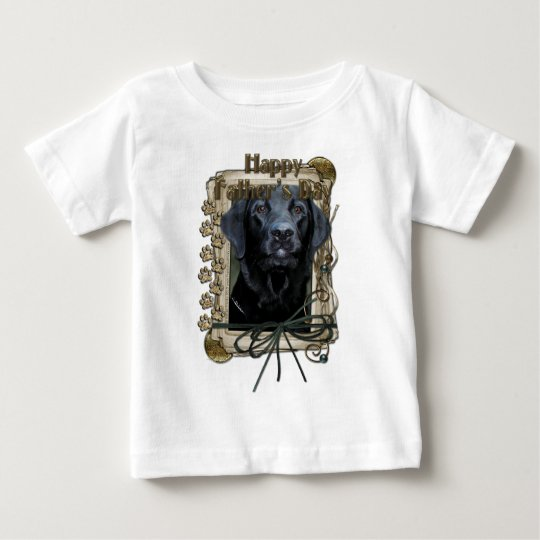 Fathers Day - Stone Paws - Labrador - Black - Gage Baby T-Shirt