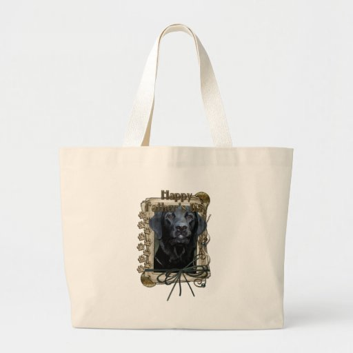 Fathers Day - Stone Paws - Labrador - Black - Gage Canvas Bag