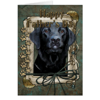 Fathers Day - Stone Paws - Labrador - Black - Gage Cards