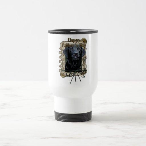 Fathers Day - Stone Paws - Labrador - Black - Gage Coffee Mugs