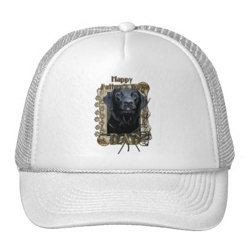 Fathers Day - Stone Paws - Labrador - Black Hat