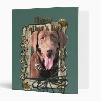Fathers Day - Stone Paws - Labrador - Chocolate 3 Ring Binder