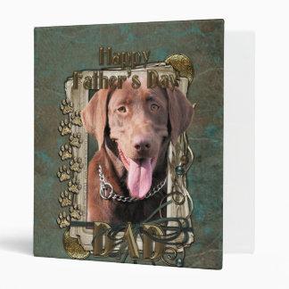 Fathers Day - Stone Paws - Labrador - Chocolate Binder