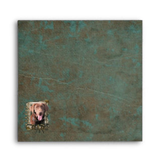 Fathers Day - Stone Paws - Labrador - Chocolate Envelope