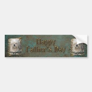 Fathers Day - Stone Paws - Lowchen Bumper Sticker