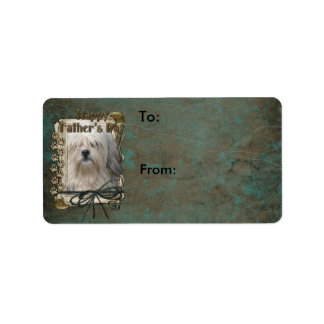 Fathers Day - Stone Paws - Lowchen Custom Address Labels