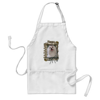 Fathers Day - Stone Paws - Maltese Adult Apron