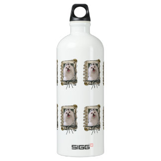 Fathers Day - Stone Paws - Maltese Aluminum Water Bottle