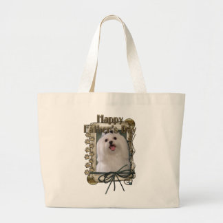Fathers Day - Stone Paws - Maltese Canvas Bags