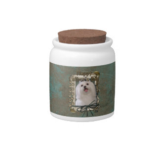 Fathers Day - Stone Paws - Maltese Candy Dish