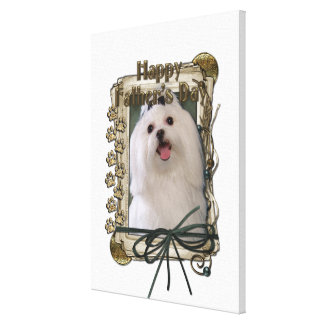 Fathers Day - Stone Paws - Maltese Gallery Wrapped Canvas