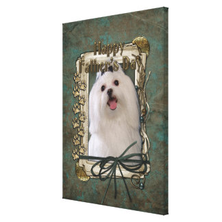 Fathers Day - Stone Paws - Maltese Canvas Print