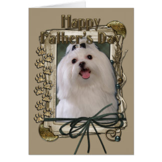 Fathers Day - Stone Paws - Maltese Greeting Cards