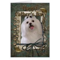 Fathers Day - Stone Paws - Maltese Card
