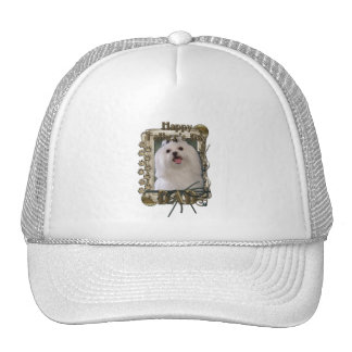 Fathers Day - Stone Paws - Maltese - Dad Trucker Hat