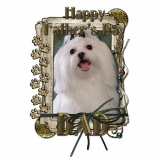 Fathers Day - Stone Paws - Maltese - Dad Cut Outs