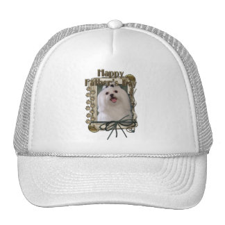 Fathers Day - Stone Paws - Maltese Trucker Hat