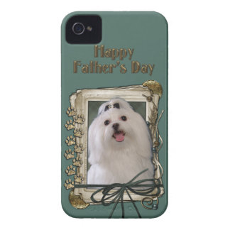 Fathers Day - Stone Paws - Maltese iPhone 4 Case-Mate Case