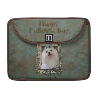 Fathers Day - Stone Paws - Maltese Sleeves For MacBooks