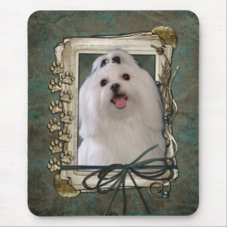 Fathers Day - Stone Paws - Maltese Mouse Pad