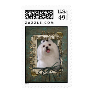 Fathers Day - Stone Paws - Maltese Postage Stamps