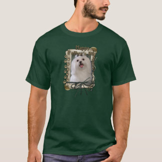 Fathers Day - Stone Paws - Maltese T-Shirt