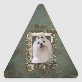 Fathers Day - Stone Paws - Maltese Triangle Sticker