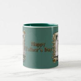 Fathers Day - Stone Paws - Maltese Two-Tone Coffee Mug