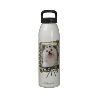 Fathers Day - Stone Paws - Maltese Reusable Water Bottle