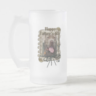Fathers Day - Stone Paws - Mastiff - Snoop Frosted Glass Beer Mug