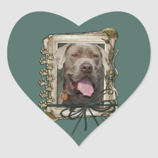 Fathers Day - Stone Paws - Mastiff - Snoop Heart Sticker