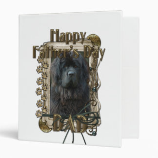 Fathers Day - Stone Paws - Newfoundland 3 Ring Binder