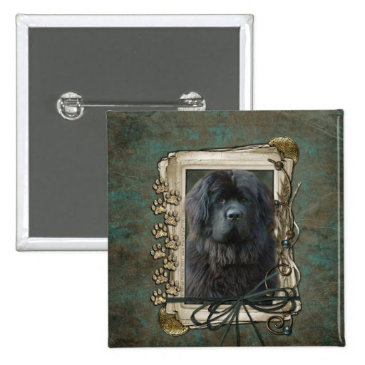 Fathers Day - Stone Paws - Newfoundland Pin