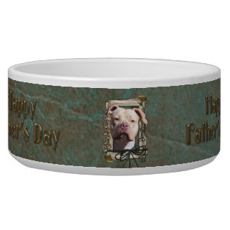 Fathers Day - Stone Paws - Pitbull - Jersey Girl Bowl
