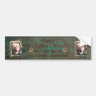 Fathers Day - Stone Paws - Pitbull - Jersey Girl Bumper Sticker
