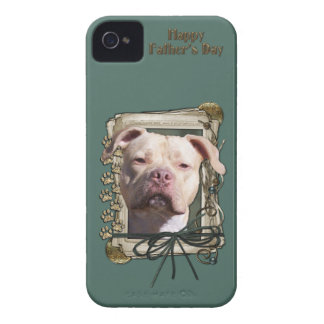 Fathers Day - Stone Paws - Pitbull - Jersey Girl iPhone 4 Cover