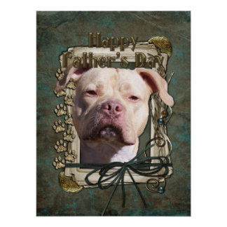 Fathers Day - Stone Paws - Pitbull - Jersey Girl Print