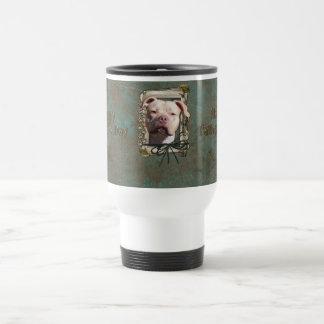 Fathers Day - Stone Paws - Pitbull - Jersey Girl Travel Mug
